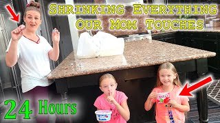 Pranking Our Mom for 24 Hours Shrinking Everything She Touches!!!
