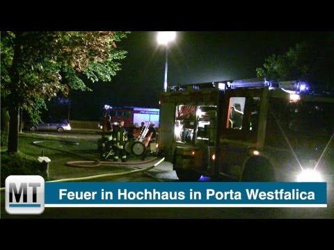 Kinderzimmer brennt in Porta Westfalica