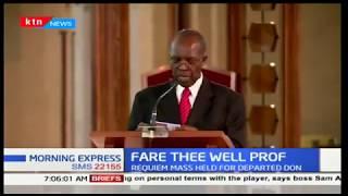 President Uhuru Kenyatta attends the late Prof Calestous Juma requiem mass