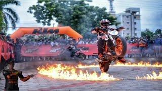 KTM Stunt Show At Tinsukia    Montystunt    Mtv Stunt Rider    Duke 125  Stunt    2018