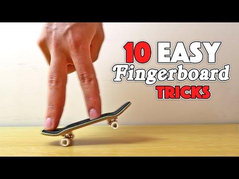 10 EASY FINGERBOARD TRICKS!