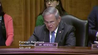 Menendez Highlights the Dangers of Undermining News Coverage, Denounces Human Trafficking in Libya