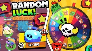RANDOM BRAWLER BIG GAME LEGENDARY LUCK! 1500+ BRAWL BOXES & MAX BETS IN BRAWL STARS!