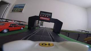 Vintage Eldon Slot track FPV! 50+ Feet of track with Go Pro