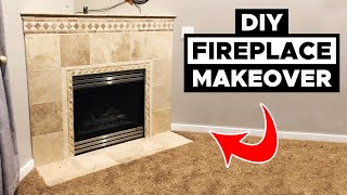 $100 Fireplace Makeover.  Update Your Fireplace CHEAP!.