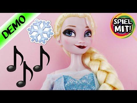 ELSA singt LET IT GO - singende Disney Frozen Eiskönigin Puppe mit Lichteffekten