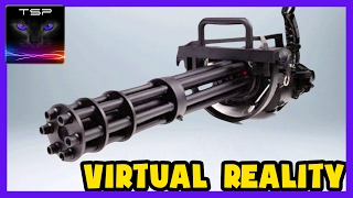 Shooting MINIGUN in Indoors Shooting Range!! Virtual Reality with HTC Vive