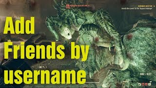 How to Add a Friend By Username Fallout 76