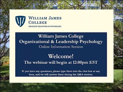 Online Info Session for William James College Organizational and ...