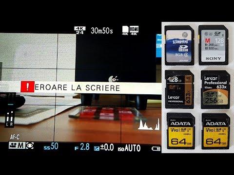 Carduri foto bune pentru filmarea la 200Mbps si care sunt cu probleme la Fujifilm X-T30