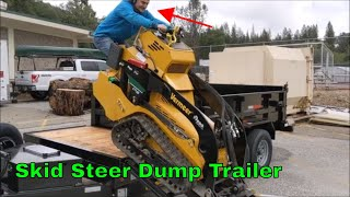 Mini Skid Steer Dump Trailer Build and Use for Tree Work