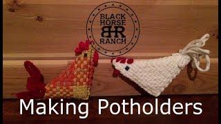 Weaving Loop Loom Potholders