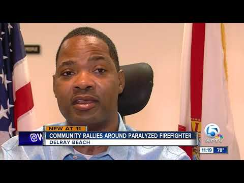 Paralyzed firefighter's journey to walk and mental health calling