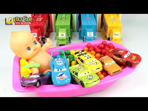 Learning Color Special Disney Pixar Cars Lightning McQueen Mack Truck Baby Bath Time kids car toys