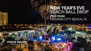 New Years Eve Beach Ball Drop Pier Park 2016