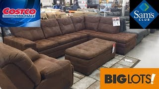 SAM'S CLUB COSTCO BIG LOTS FURNITURE 2020 SOFAS ARMCHAIRS SHOP WITH ME SHOPPING STORE WALK THROUGH