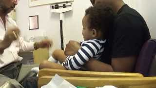 Baby Laughing While Getting Shots
