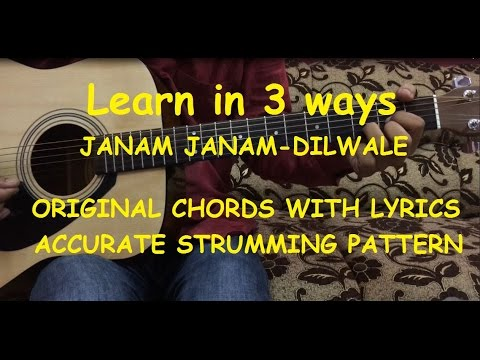 Janam Janam Guitar Chords Lesson With Intro Tabs | Cover | Arijit Singh | Dilwale | FuZaiL Xiddiqui Mp3