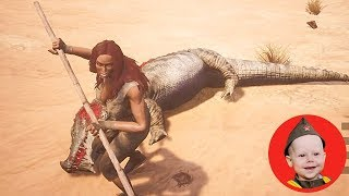 Conan Exiles (2018 PS4 Single Player): Scrubber and the Giant Croc (Episode 5)