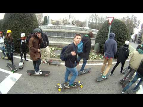 New Year longboard cruising - Madrid 2014