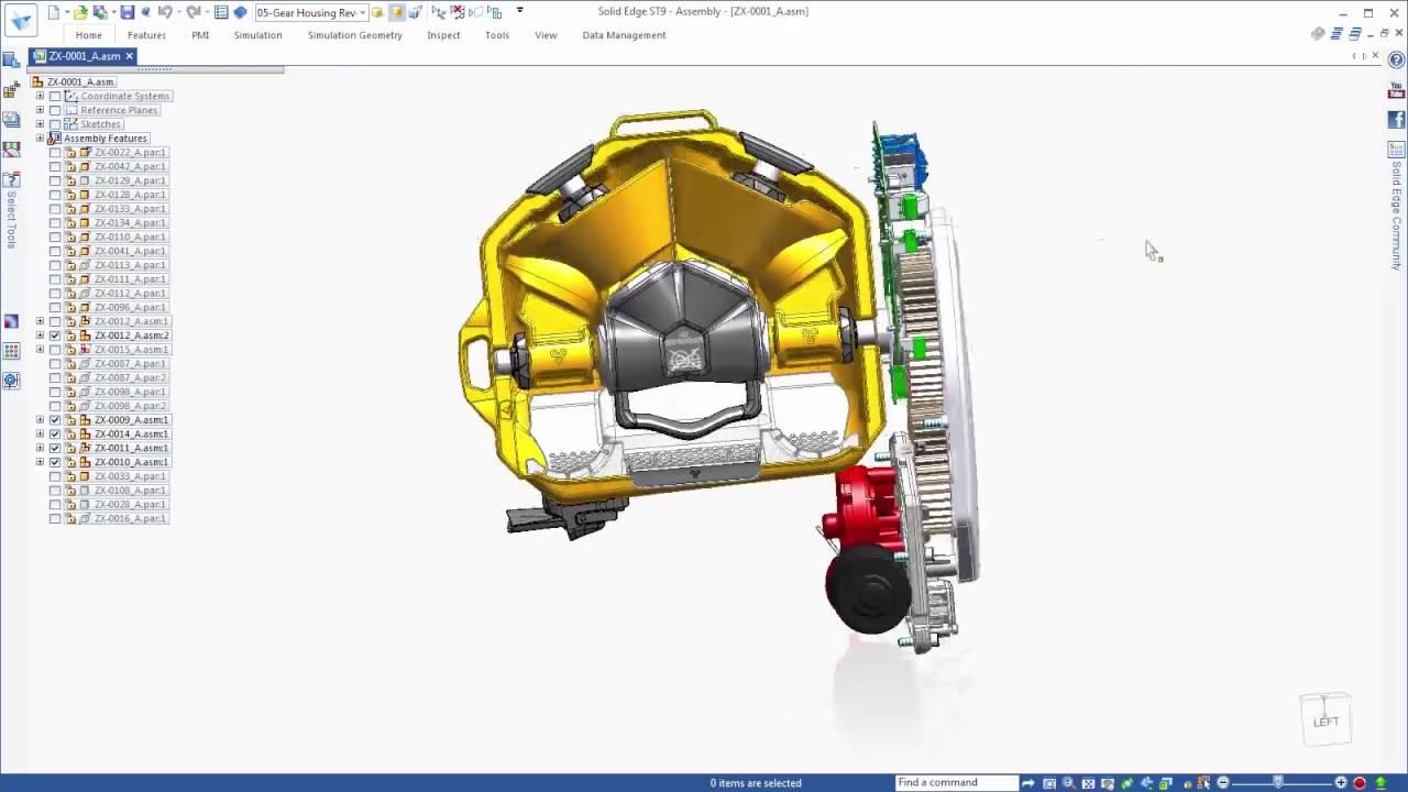 Vorschaubild: Solid Edge ST9: Neue Möglichkeiten für die Baugruppenmodellierung