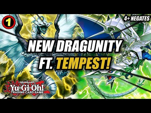YU-GI-OH! NEW DRAGUNITY LINK FT. TEMPEST DRAGON RULER OF THE STORMS DECK PROFILE IN ACTION + COMBOS!