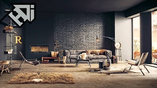 33 Living Rooms With Exposed Brick Walls Accent - HOME DESIGN Ideas
