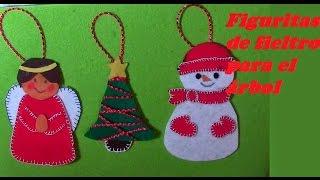 ADORNOS NAVIDEÑOS DE FIELTRO FACILISIMOS.Christmas Ornaments Of Felt. VERY EASY