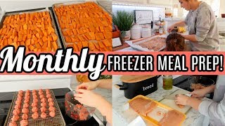 EASY Monthly Freezer Meal Prep   Easy Meals For Large Family