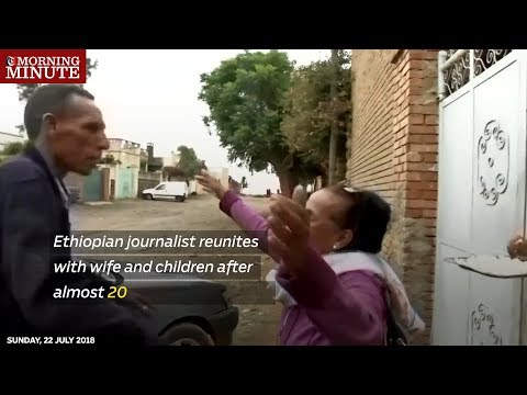 Ethiopian journalist reunites with wife and children after almost 20 years of separation
