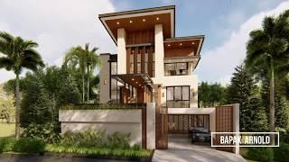 Video Desain Rumah Modern 3 Lantai Bapak Arnold II di  Jakarta