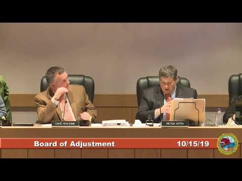 Board of Adjustment 10.15.19