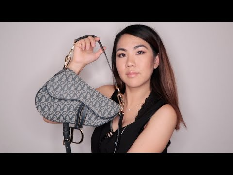 Dior Saddle Bag | What's in my bag? + Straps for Crossbody!