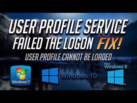 fix user profile service windows 7