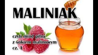 Maliniak - miód pitny z sokiem malinowym od Malinowy Nos