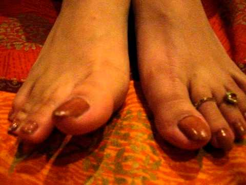 Delicious sexy feet in brown shades