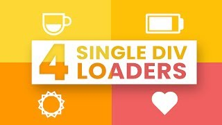 4 Single Div Loading Animations | Single Element Loaders| CSS Loading Animation