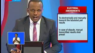 Proposed amendments to the election laws prior to the repeat presidential elections