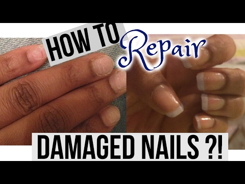 Video HOW TO REPAIR AND GROW WEAK & DAMAGED NAILS AFTER ACRYLICS