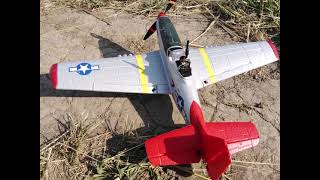Mini Mustang P 51D Eachine / FPV Fly / Windy day