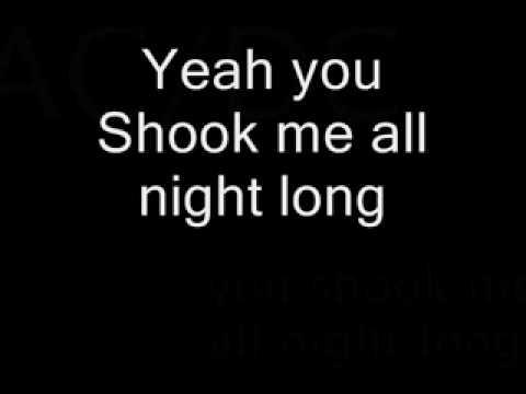 AC DC -- You Shook Me All Night Long with lyrics.flv