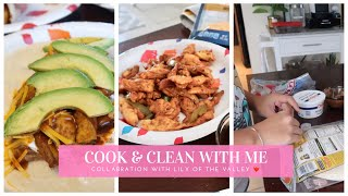COOK AND CLEAN WITH ME   CHICKEN FAJITAS   CLEANING MOTIVATION   COLLABORATION VIDEO