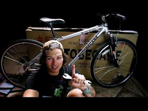 2018 Motobecane Elite Sport Assembly and Review | Bikes Direct | CHEAP Hybrid Mountain Bike!