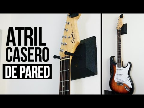 ATRIL PARA GUITARRA CASERO DE PARED | DIY