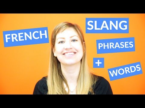 French slang phrases and words