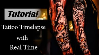 Full Sleeve In 4Days - Tattoo Timelapse With Real Time Part1