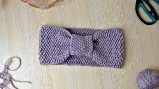 Knit baby seed stitch headband/warmer (6-18 months)