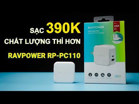 Sạc 2 cổng RAVPower RP-PC110 - Sạc nhanh hơn, thông minh hơn