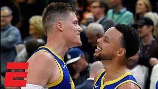 Jonas Jerebko's last-second heroics carry the Warriors to victory vs Jazz | NBA Highlights