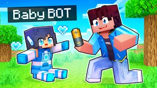 Unboxing Our Baby APH BOT in Minecraft!